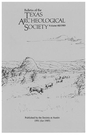 Primary view of object titled 'Bulletin of the Texas Archeological Society, Volume 60, 1989'.