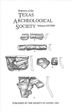 Bulletin of the Texas Archeological Society, Volume 65, 1994