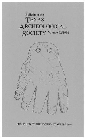 Bulletin of the Texas Archeological Society, Volume 62, 1991