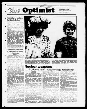 Primary view of object titled 'The Optimist (Abilene, Tex.), Vol. 69, No. 54, Ed. 1, Tuesday, April 27, 1982'.