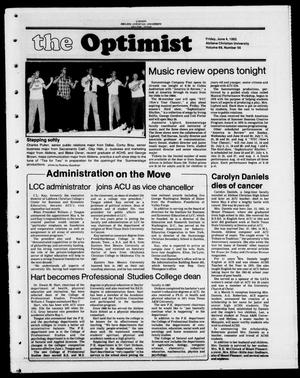 Primary view of object titled 'The Optimist (Abilene, Tex.), Vol. 69, No. 56, Ed. 1, Friday, June 4, 1982'.