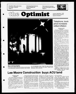 Primary view of object titled 'The Optimist (Abilene, Tex.), Vol. 70, No. 2, Ed. 1, Tuesday, September 7, 1982'.