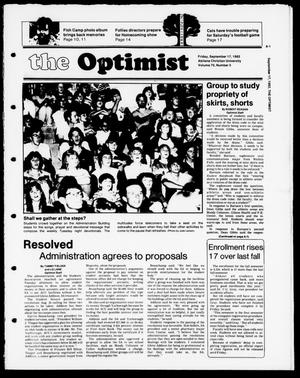 Primary view of object titled 'The Optimist (Abilene, Tex.), Vol. 70, No. 5, Ed. 1, Friday, September 17, 1982'.