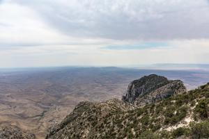 Primary view of object titled 'El Capitan and horizon from the Guadalupe Peak Trail'.