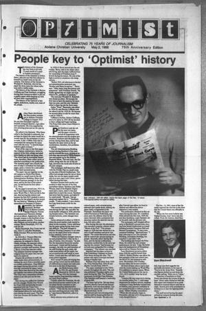 Primary view of object titled 'The Optimist (Abilene, Tex.), Vol. 75, No. 59, Ed. 2, Monday, May 2, 1988'.