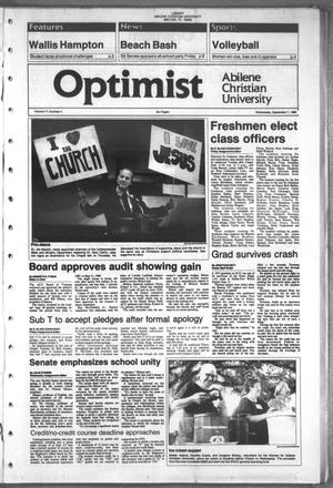 Primary view of object titled 'The Optimist (Abilene, Tex.), Vol. 77, No. 4, Ed. 1, Wednesday, September 7, 1988'.