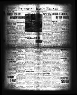 Primary view of object titled 'Palestine Daily Herald (Palestine, Tex), Vol. 18, No. 28, Ed. 1 Saturday, July 5, 1919'.