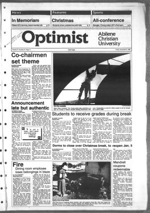 Primary view of object titled 'The Optimist (Abilene, Tex.), Vol. 77, No. 27, Ed. 1, Friday, December 9, 1988'.