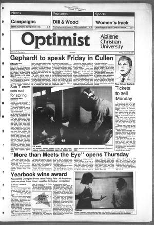 Primary view of object titled 'The Optimist (Abilene, Tex.), Vol. 77, No. 31, Ed. 1, Friday, January 20, 1989'.