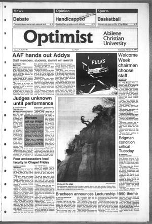 Primary view of object titled 'The Optimist (Abilene, Tex.), Vol. 77, No. 38, Ed. 1, Wednesday, February 15, 1989'.