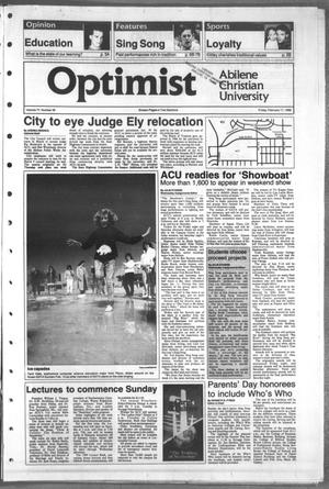 Primary view of object titled 'The Optimist (Abilene, Tex.), Vol. 77, No. 39, Ed. 1, Friday, February 17, 1989'.