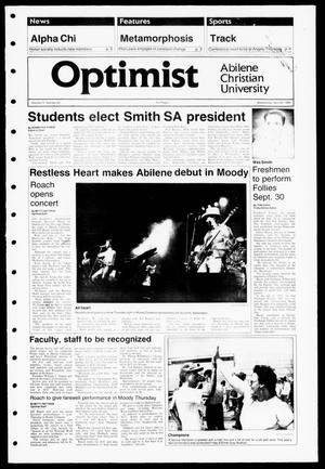 The Optimist (Abilene, Tex.), Vol. 77, No. 55, Ed. 1, Wednesday, April 26, 1989