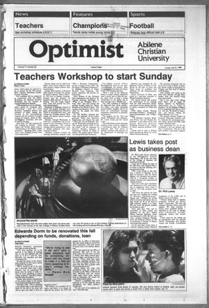 Primary view of object titled 'The Optimist (Abilene, Tex.), Vol. 77, No. 58, Ed. 1, Friday, July 21, 1989'.