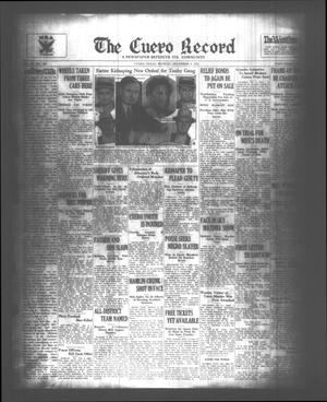 Primary view of object titled 'The Cuero Record (Cuero, Tex.), Vol. 39, No. 288, Ed. 1 Monday, December 4, 1933'.