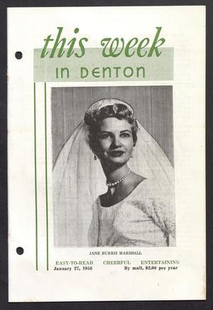 This Week in Denton (Denton, Tex.), Vol. 2, No. 7, Ed. 1 Friday, January 27, 1956