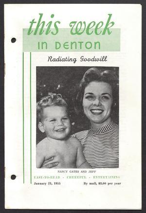 This Week in Denton (Denton, Tex.), Vol. 1, No. 12, Ed. 1 Friday, January 21, 1955