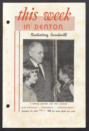 Primary view of object titled 'This Week in Denton (Denton, Tex.), Vol. 1, No. 13, Ed. 1 Friday, February 4, 1955'.