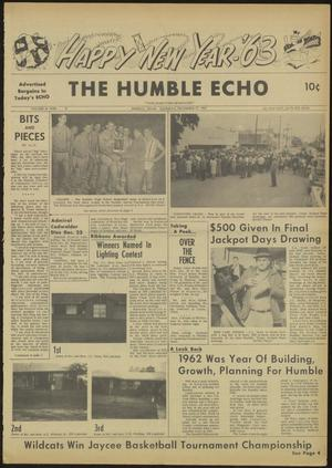 Primary view of object titled 'The Humble Echo (Humble, Tex.), Vol. 21, No. 51, Ed. 1 Thursday, December 27, 1962'.
