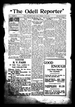 The Odell Reporter (Odell, Tex.), Vol. 1, No. 30, Ed. 1 Thursday, July 25, 1912