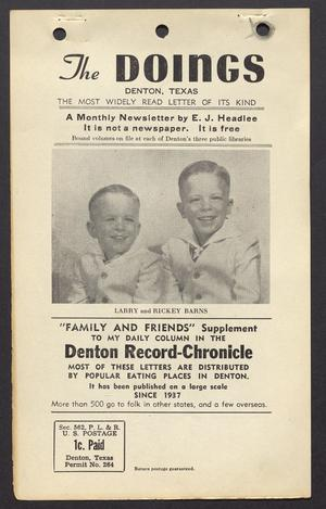The Doings (Denton, Tex.), Vol. [12], No. [7], Ed. 1 Thursday, July 20, 1950