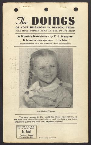 The Doings (Denton, Tex.), Vol. 12, No. 1, Ed. 1 Tuesday, January 24, 1950