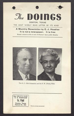 The Doings (Denton, Tex.), Vol. [12], No. [8], Ed. 1 Sunday, August 20, 1950