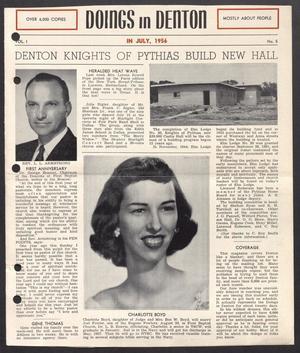 Doings in Denton (Denton, Tex.), Vol. 1, No. 5, Ed. 1 Sunday, July 1, 1956