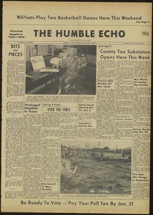 Primary view of object titled 'The Humble Echo (Humble, Tex.), Vol. 22, No. 1, Ed. 1 Thursday, January 3, 1963'.