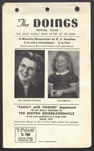 The Doings (Denton, Tex.), Vol. 12, No. 10, Ed. 1 Friday, October 20, 1950