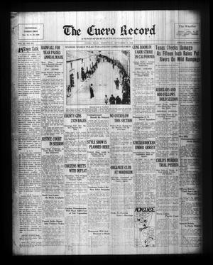 Primary view of object titled 'The Cuero Record (Cuero, Tex.), Vol. 42, No. 218, Ed. 1 Wednesday, September 16, 1936'.