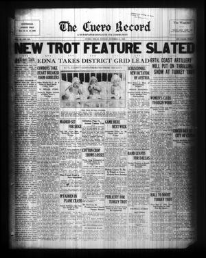 Primary view of The Cuero Record (Cuero, Tex.), Vol. 42, No. 239, Ed. 1 Sunday, October 11, 1936