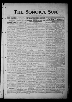 Primary view of The Sonora Sun. (Sonora, Tex.), Vol. 3, No. 35, Ed. 1 Saturday, October 21, 1905
