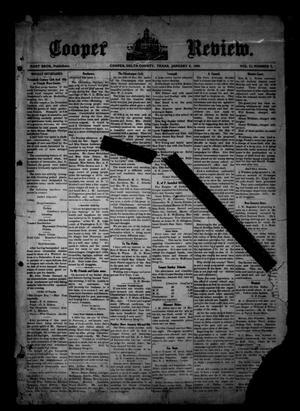 Cooper Review. (Cooper, Tex.), Vol. 30, No. 2, Ed. 1 Friday, January 8, 1909