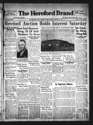 The Hereford Brand (Hereford, Tex.), Vol. 38, No. 7, Ed. 1 Thursday, February 17, 1938