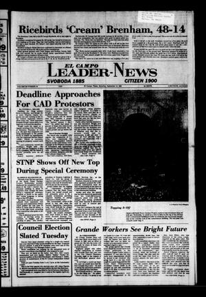 Primary view of object titled 'El Campo Leader-News (El Campo, Tex.), Vol. 99, No. 49, Ed. 1 Saturday, September 10, 1983'.
