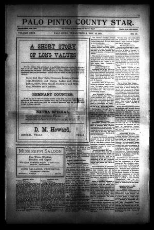 Primary view of Palo Pinto County Star. (Palo Pinto, Tex.), Vol. 29, No. 21, Ed. 1 Friday, November 18, 1904