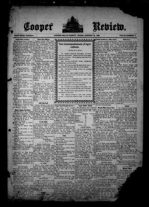 Cooper Review. (Cooper, Tex.), Vol. 30, No. 3, Ed. 1 Friday, January 15, 1909