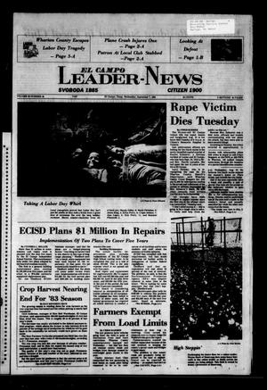 Primary view of object titled 'El Campo Leader-News (El Campo, Tex.), Vol. 99, No. 48, Ed. 1 Wednesday, September 7, 1983'.
