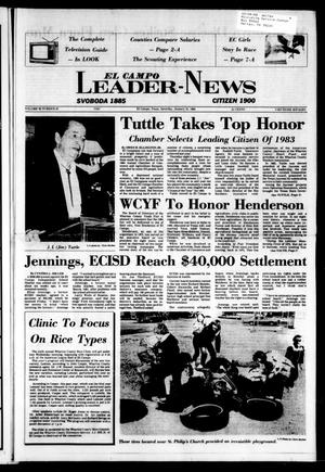El Campo Leader-News (El Campo, Tex.), Vol. 99, No. 87, Ed. 1 Saturday, January 21, 1984