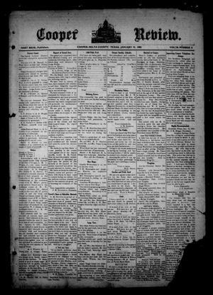 Cooper Review. (Cooper, Tex.), Vol. 30, No. 4, Ed. 1 Friday, January 22, 1909
