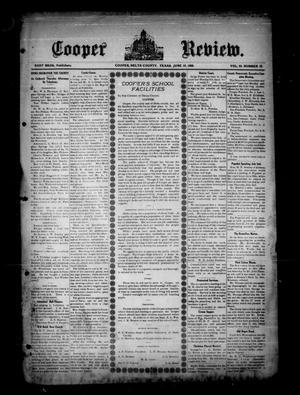 Cooper Review. (Cooper, Tex.), Vol. 29, No. 25, Ed. 1 Friday, June 19, 1908