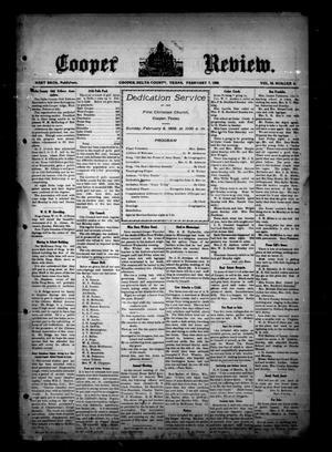 Cooper Review. (Cooper, Tex.), Vol. 29, No. 6, Ed. 1 Friday, February 7, 1908