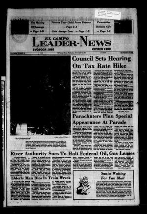 Primary view of object titled 'El Campo Leader-News (El Campo, Tex.), Vol. 99, No. 72, Ed. 1 Wednesday, November 30, 1983'.