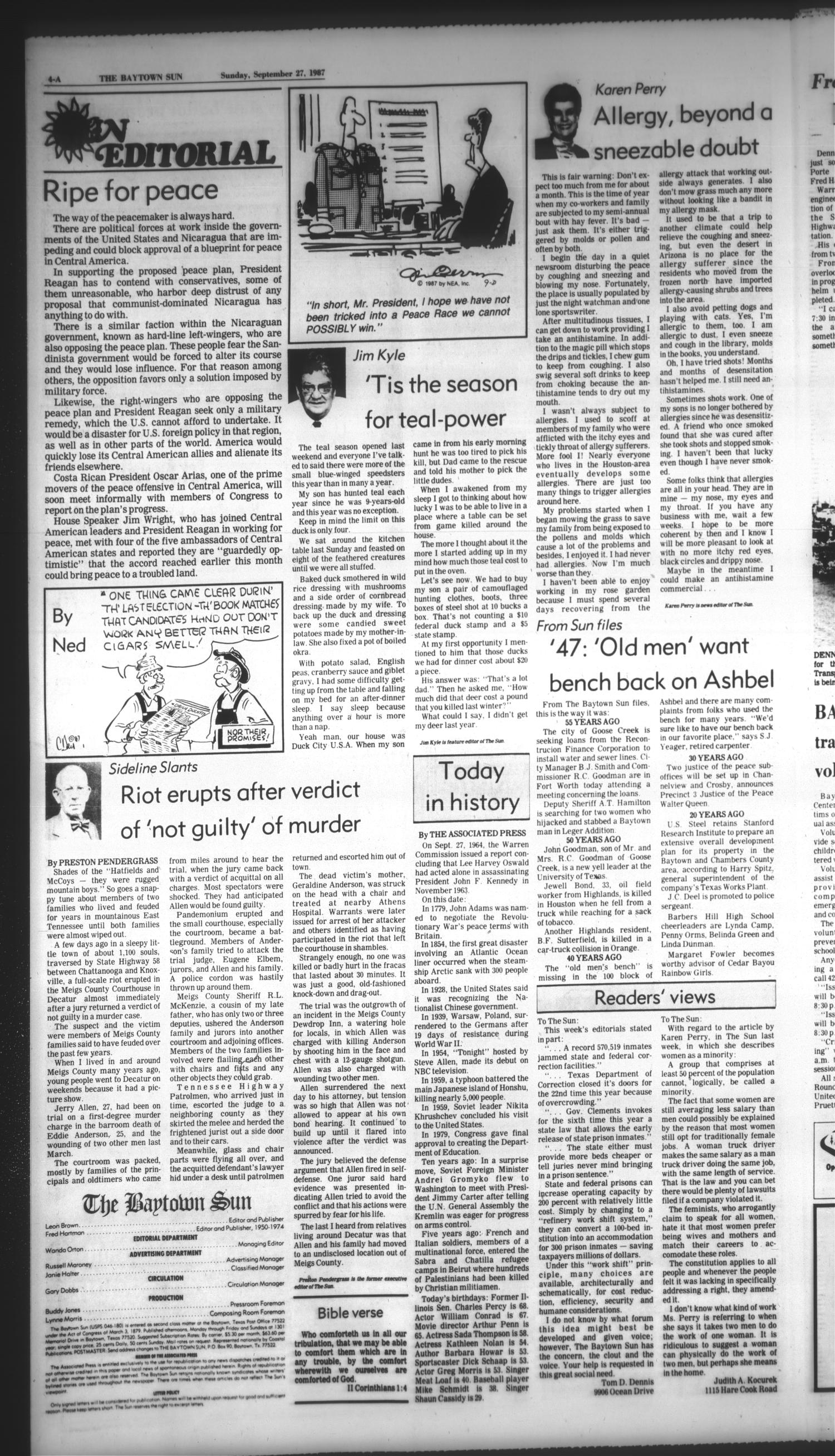 The Baytown Sun (Baytown, Tex.), Vol. 65, No. 282, Ed. 1 Sunday, September 27, 1987                                                                                                      [Sequence #]: 4 of 28