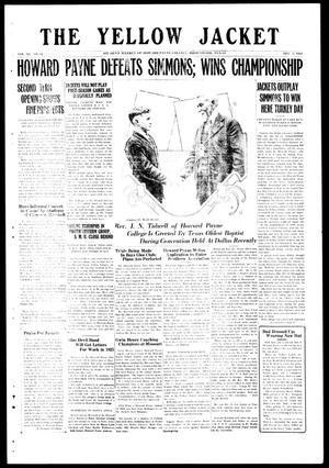 The Yellow Jacket (Brownwood, Tex.), Vol. 11, No. 12, Ed. 1, Friday, December 5, 1924