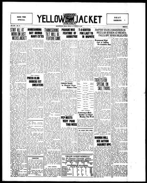 Primary view of object titled 'Yellow Jacket (Brownwood, Tex.), Vol. 14, No. 10, Ed. 1, Friday, November 18, 1927'.