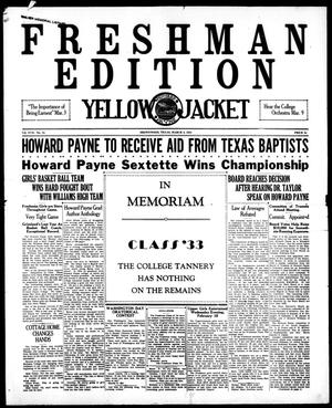 Primary view of object titled 'Yellow Jacket (Brownwood, Tex.), Vol. 17, No. 12, Ed. 1, Tuesday, March 3, 1931'.