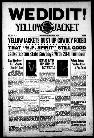 Primary view of object titled 'Yellow Jacket (Brownwood, Tex.), Vol. 18, No. 8, Ed. 1, Thursday, November 26, 1931'.
