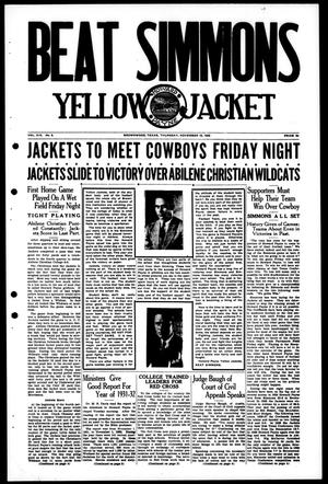 Primary view of object titled 'Yellow Jacket (Brownwood, Tex.), Vol. 19, No. 9, Ed. 1, Thursday, November 10, 1932'.
