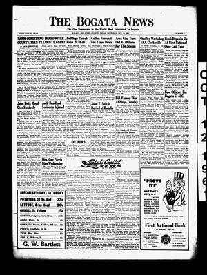 The Bogata News (Bogata, Tex.), Vol. 52, No. 1, Ed. 1 Thursday, October 12, 1961